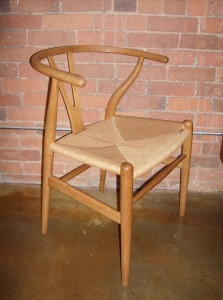 Outstanding design - this vintage original wishbone chair was designed by Hans J.Wegner for Carl Hansen & Son - solid oak & hand woven paper cord - exceptional quality & craftsmanship - design year - 1949 - (SOLD)