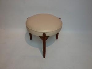 "Lovely Rare Mid-century modern 3 legged foot stool by Spottrup Mobelfabrik - Made in Denmark - this beauty measures - 18""diameter x 15""H - (SOLD)"