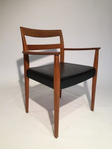 Handsome 1960's Scandinavian Modern teak arm chair - would make a perfect addition to your dining room suite and or office or an occasional chair for any room in your fabulous home - (SOLD
