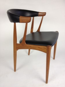 Early 1960's Johannes Andersen dining chair in original naugahyde (SOLD)
