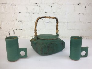 Exceptional Ceramic tea set by Canadian /English Potter Ron Tribe - the glaze and the design are really phenomenal - WOW (SOLD)