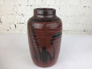 Incredible Vintage ceramic vase by Canadian Potter Walter Dexter -(SOLD)