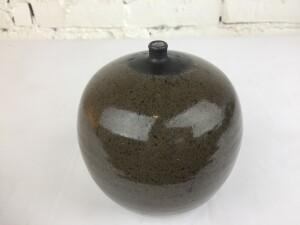 Stunning Vintage ceramic spherical squat vase by Canadian Potter Jack Sures -SOLD