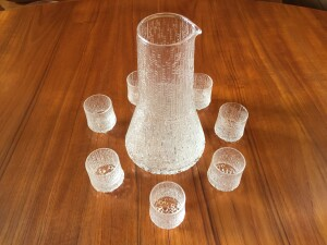 Gorgeous Vintage set by Ultima Thule for iittala - Made in Finland - carafe and 7 liqueur glasses - (SOLD)
