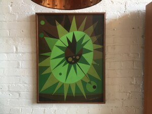 Incredibly vibrant Abstract Painting signed Ludwig -1967 - (SOLD)