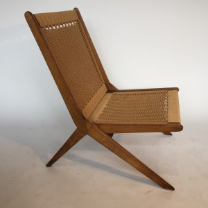 Handsome 1960's Rope folding chair - this beauty has fantastic joinery and is in fabulous condition - perfect for indoors and/or would be lovely on your covered deck this summer :) - (SOLD)