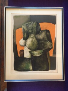 """Exceptional Modernist Lithograph by French artist Claude Gaveau - signed and numbered 13/120 - measures - 31"""" x 25""""(SOLD)"""