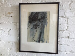 """Incredible 1960's original abstract watercolor by Canadian artist Michael Morris - nicely framed -16"""" x 20.5"""" signed and dated '63 - (SOLD)"""