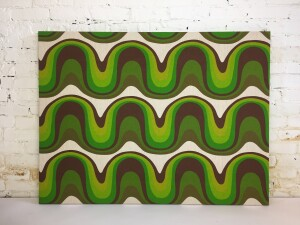 Super Groovy fabric purchased in New York in the 1960's turned into a fabulous large piece of wall art - WOW - (SOLD)