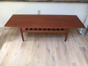 Gorgeous Mid-century Modern 2 tier teak coffee table designed by one of Denmark's most talented female designer's Grete Jalk - Made in Denmark by Glostrup- newly re-finished - (SOLD)