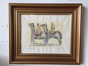 Herbert Siebner, a member of the Limners, a prominent group of Victoria-based artists, was born in 1925 to a cultured family in the city of Stettin, Germany lithogragh $250