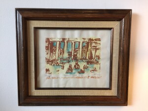 """Herbert Siebner, a member of the Limners, a prominent group of Victoria-based artists, was born in 1925 to a cultured family in the city of Stettin, Germany - - """"Berlin"""" - Lithograph - $250"""