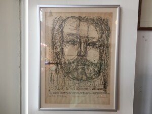 Herbert Siebner, a member of the Limners, a prominent group of Victoria-based artists, was born in 1925 to a cultured family in the city of Stettin, Germany -A self portrait - age 60 - lithograph - $350