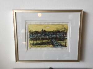 Lithograph by Herbert Siebner signed and dated 95 3/15, a member of the Limners, a prominent group of Victoria-based artists the frame measures 10.5 x 8.5 $250