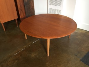 1960's Danish Modern solid teak round coffee table by France and Son - Made in Denmark - comes with new (reclaimed vintage teak tapered legs ) - top has been professionally re-finished and looks amazing - (SOLD)
