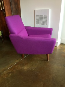 Exceptional Mid-century Modern easy chair completely restored including new upholstery in a high quality wool by Kvadrat (tonica line) - (SOLD)
