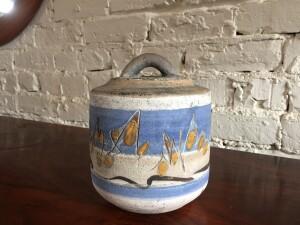 Gorgeous Ceramic lidded vessel by Canadian artist/potter/teacher - Walter Dexter (SOLD)