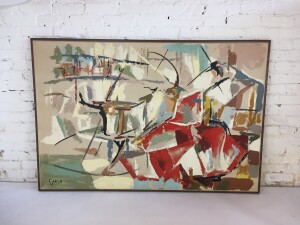 Original abstract oil painting by Carlo of Hollywood SOLD