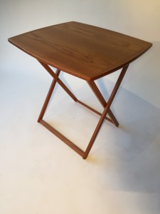 """1960's folding tray table by BRDR Furbo - Made in Denmark - would make a great T.V tray, or a small work surface for your laptop 25.5"""" W X 21"""" D X 25"""" H (SOLD)"""