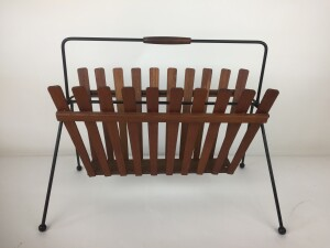 Fabulous Vintage teak and metal magazine holder - add some style to your living room space - form and function - :) -(SOLD)
