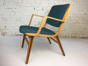 One of the most comfortable chairs in the MCM world says ME :) the AX easy chair Designed by Architects and Designer's Peter Hvidt & Orla Molgaard-Nielsen for Fritz Hansen - newly refinished frame and newly upholstered in gorgeous blue/gray wool by Kvadrat (SOLD)