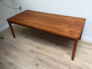 Gorgeous MId-century Modern teak coffee table - Designed byHenning Kjaernulf for Vejle Stole - Made in Denmark - newly refinished and looking gorgeous - (SOLD)