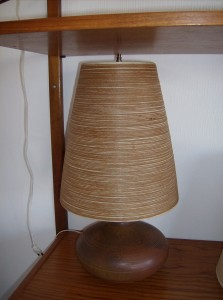 Absolutely stunning Mid-century modern designer - Lotte Bostlund lamp w/original shade and finial - (SOLD)