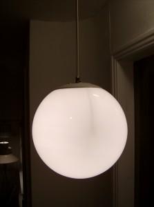 Fabulous 1960's globe pendant light - (SOLD)