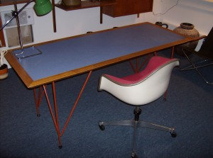 Spectacular desk - made by a local Victoria artist years ago - in the style of a Frank Lloyd Wright desk - very well made - quality - (SOLD)