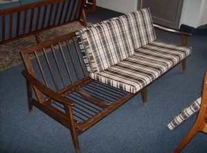 Fabulous Mid-century modern 3 seater solid wood sofa - steal of the week - (SOLD)