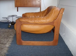 Fantastic Mid-century modern teak and leather lounge chair - super comfy - (SOLD)