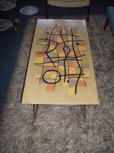 Super Fabulous 1950's coffee table signed JBT - really spectacular - (SOLD)
