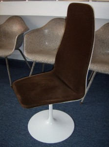 Fabulous 1960's Swedish Jetson style highback tulip base swivel dining chair - designed by Johanson - super comfortable and look super cool - 2 available - (SOLD)