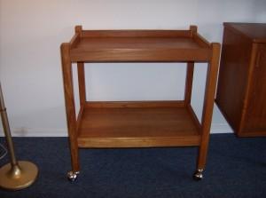 "Super functional vintage teak bar cart - really nice condition - Measures - L - 26""  W - 17"" H - 27.75"" - (SOLD)"