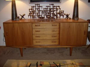 Handsome Mid-century modern Danish teak sideboard for Clausen & Son's - (SOLD)