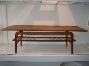 """of floating - you know the kind - really a stunning design and sleek look - the cane shelf below has a few missing pieces - will send more photos upon request - good vintage condition - measurements - 5 feet length X 20""""Width X 17.5"""" height - (SOLD)"""