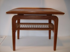 """table - nice curved lip on the top edges - super nice condition - measures 25.5""""Long X 18.5"""" Width X 21""""Height - (SOLD)"""