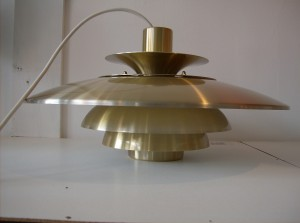 Killer vintage pendant light designed by Sven Middleboe in the 1960's - Denmark - excellent condition - a steal for $295