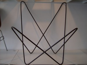 Super fly -Vintage Butterfly chair frame - heavy iron - By Argentina designer Jorge Ferarri for Knoll ? - Frame Only - $140