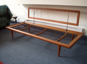 An early 1950's Danish teak sofa/daybed by designer Peter Hvidt - manufactured by France and  Daverkosen - really nice condition all springs in tact - comes with the seat and back cushions - could use new cover - Killer price - (SOLD)