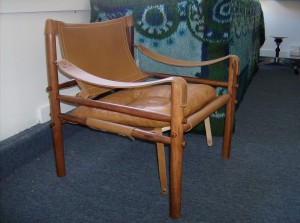 A spectacular 1960's Rosewood and leather chair by Swedish designer Arne Norell - great vintage condition - $495
