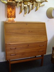 Beautiful Mid-century modern Danish teak Secretaire - the wood is in really excellent condition - the patina is stunning - the craftmenship is killer - there is one flaw - please inquire - nothing major - overall a lovely lovely piece - (SOLD)