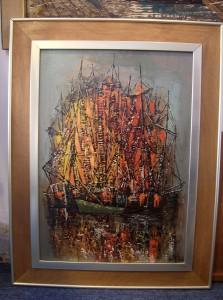 Original 20th Century Oil painting by European artist Luc Verger - (SOLD)