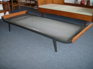 1950's Daybed Cleopatra designed by Dick Cordemeijer for Auping - Netherlands - not just a piece of furniture - but a piece of art - Metal and teak - (SOLD)
