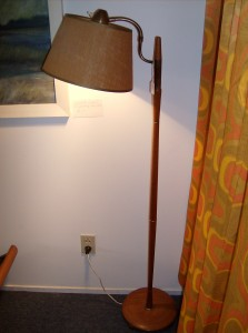 Killer quality teak/brass floor lamp w/a goose neck - great for any room in your Mid-century modern inspired home - (SOLD)