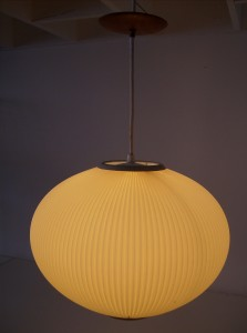 Killer Mid-century modern pendant light - super nice soft glow - this light just oozes Modernism - (SOLD)