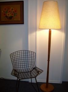 1960's teak floor lamp - super sleek - super modern - perfect for any Mid-century modern home - (SOLD)