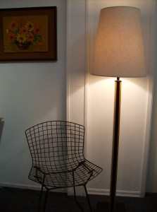 Very Handsome 1960's teak and iron floor lamp - fantastic design - this lamp would look great in any Mid-century modern home - (SOLD)