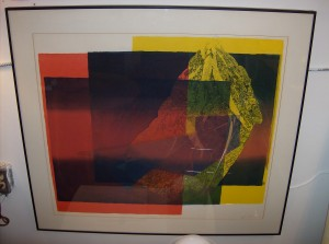 """Spectacular Serigraph by Artist Yves Vial - Born in 1954 in Lyon France - he moved to Canada in the 70's and settled in Victoria - Yves art is world renowned.  His work is exhibited in many private and public collections in North America, Europe, China and Japan - dated 1979 - they measure - 38"""" X 34"""" - (SOLD)"""