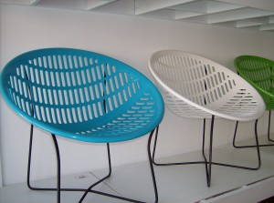 Fabulous Solair Outdoor chairs designed by Fabiano & Panzini - Made in Quebec - Canada - New tops on vintage bases - Summer is here... why not have the coolest outdoor chairs available -  temporarily out